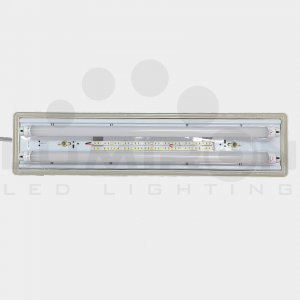 TRAPANI FIXTURE LED TUBE 110-277V AC 12V DC OR 24V DC EMERGENCY