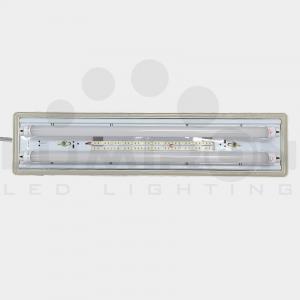 TRAPANI FIXTURE LED TUBE 110-277V AC 12V DC OR 24V DC EMERGENCY