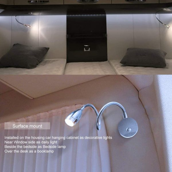 Reading Lamp with Copper USB Plus - Spotlight Gooseneck Round Beside Light