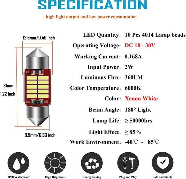 Festoon LED Bulbs 12V 24V