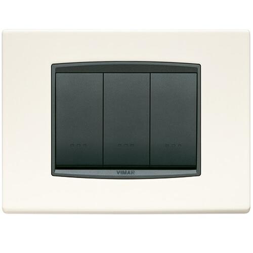 Eikon Square Cover Plate, Chrome